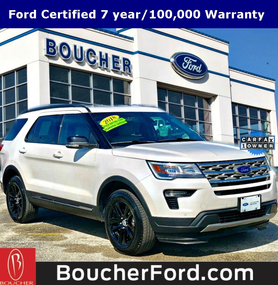 Ford Certified Pre Owned >> Certified Pre Owned 2018 Ford Explorer Xlt 4d Sport Utility In The
