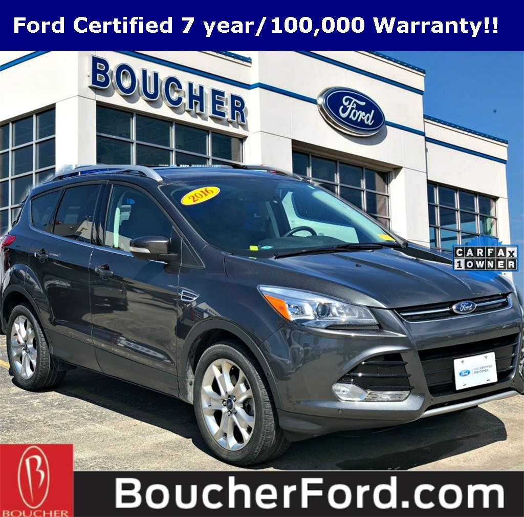 Ford Certified Pre Owned >> Certified Pre Owned 2016 Ford Escape Titanium 4d Sport Utility In