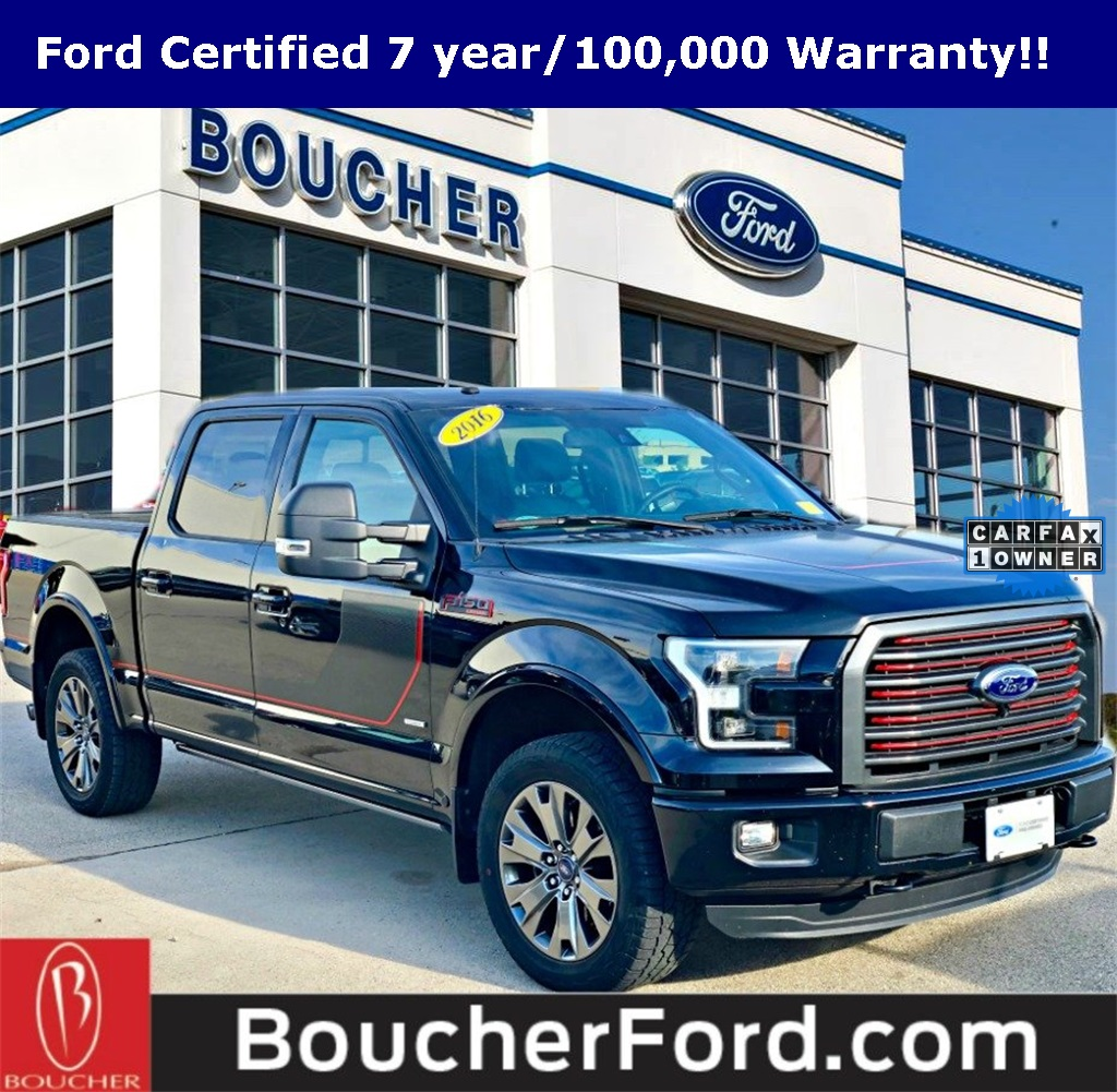 Ford Certified Pre Owned >> Certified Pre Owned 2016 Ford F 150 Lariat 4d Supercrew In The